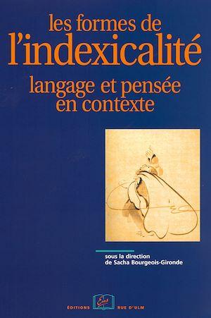 Téléchargez le livre :  Les formes de l'indexicalité