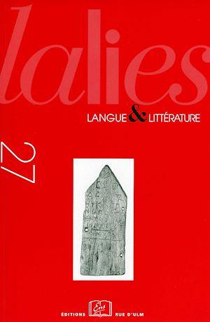 Téléchargez le livre :  Lalies 27