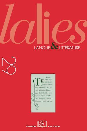 Téléchargez le livre :  Lalies 29