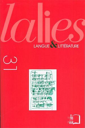 Téléchargez le livre :  Lalies 31