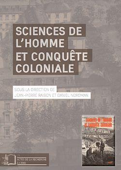 Téléchargez le livre numérique:  Sciences de l'homme et conquête coloniale