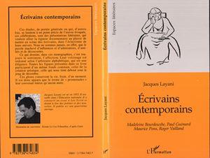 Téléchargez le livre :  ECRIVAINS CONTEMPORAINS