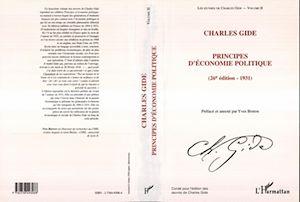 Téléchargez le livre :  CHARLES GIDE - PRINCIPES D'ECONOMIE POLITIQUE (26E EDITION - 1931)