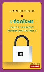 Télécharger le livre :  L'égoïsme
