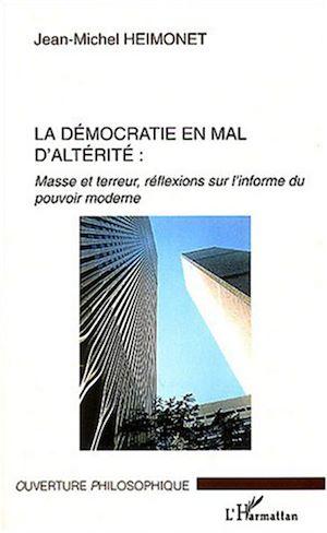 Téléchargez le livre :  La démocratie en mal d'altérité