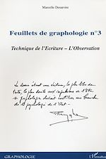 Télécharger le livre :  Feuillets de graphologie n°3