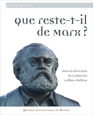 Téléchargez le livre :  Que reste-t-il de Marx ?