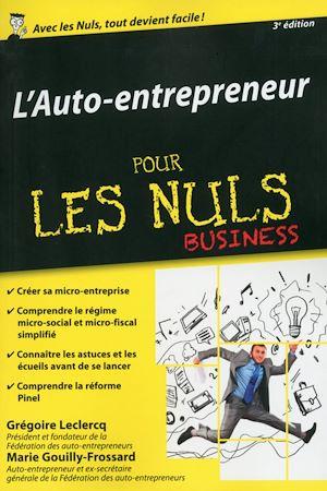 Téléchargez le livre :  Auto-entrepreneur pour les Nuls, édition poche, 3ème édition