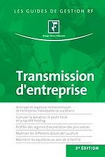 Télécharger le livre :  Transmission d'entreprise - 3e édition