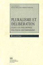 Télécharger le livre :  Pluralisme et délibération