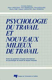 Télécharger le livre : Psychologie du travail et nouveaux milieux de travail