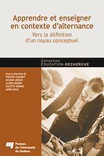 Télécharger le livre :  Apprendre et enseigner en contexte d'alternance