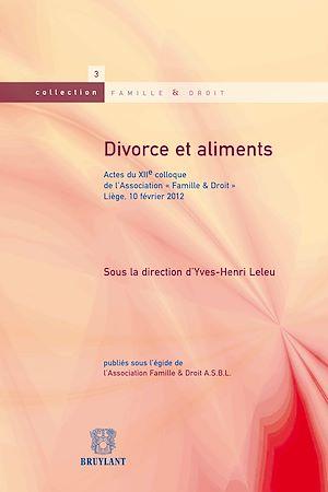 Téléchargez le livre :  Divorce et aliments
