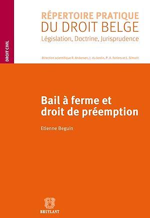 Téléchargez le livre :  Bail à ferme et droit de préemption