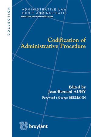 Téléchargez le livre :  Codification of Administrative Procedure