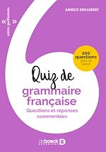Télécharger le livre :  Quiz de grammaire française