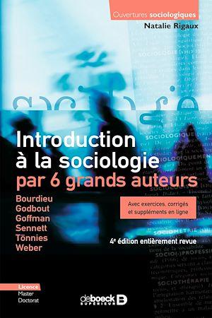 Téléchargez le livre :  Introduction à la sociologie par 6 grands auteurs
