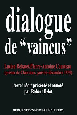 """Téléchargez le livre numérique:  Dialogues de """"vaincus"""""""