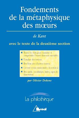 Téléchargez le livre :  Fondements de la métaphysique des mœurs - Kant