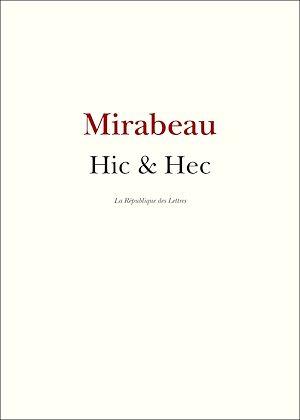 Téléchargez le livre :  Hic et Hec