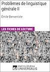 Téléchargez le livre numérique:  Problèmes de linguistique généraleII d'Émile Benveniste