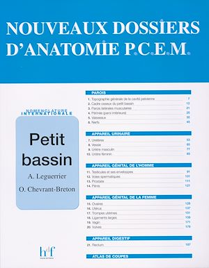 Téléchargez le livre :  Nouveau dossier d 'anatomie P.C.E.M. : Petit bassin