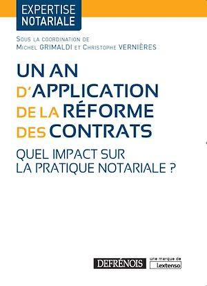 Téléchargez le livre :  Un an d'application de la réforme des contrats