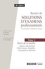 Télécharger le livre :  Recueil de solutions d'examens professionnels - 16e édition