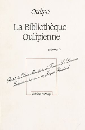 Téléchargez le livre :  La Bibliothèque Oulipienne (2)
