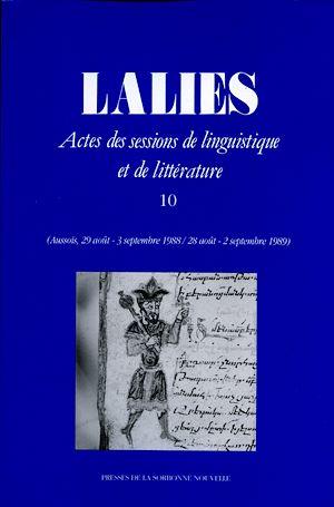 Téléchargez le livre :  Lalies 10