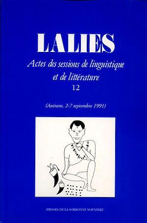 Téléchargez le livre :  Lalies 12