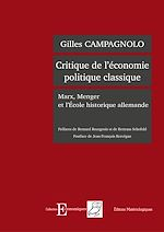 Télécharger cet ebook : Critique de l'économie politique - Marx, Menger et l'école historique allemande