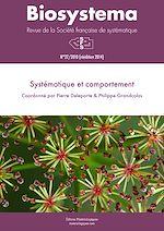 Télécharger le livre :  Biosystema : Systématique et comportement - n°27/2010 (réédition 2014)