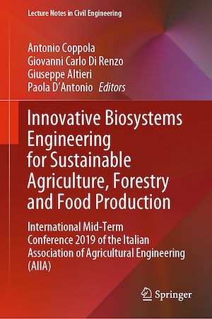 Téléchargez le livre :  Innovative Biosystems Engineering for Sustainable Agriculture, Forestry and Food Production