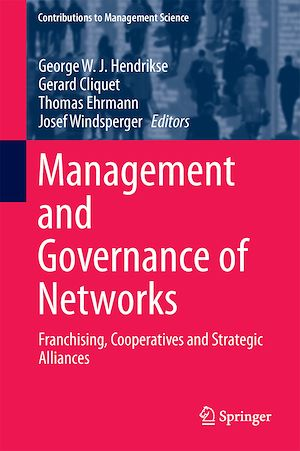 Téléchargez le livre :  Management and Governance of Networks