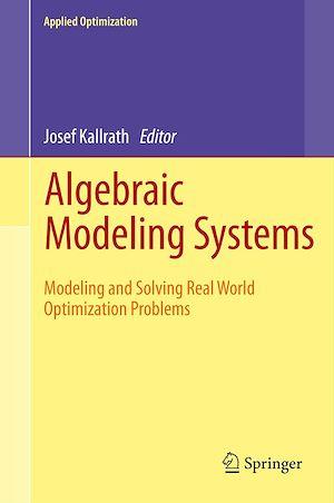 Téléchargez le livre :  Algebraic Modeling Systems