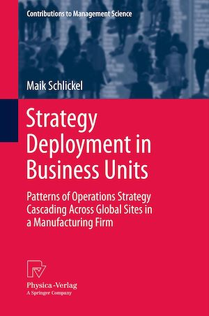 Téléchargez le livre :  Strategy Deployment in Business Units