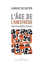Télécharger le livre :  L'âge de l'anesthésie