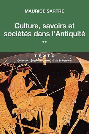 Téléchargez le livre :  Culture, savoirs et sociétés dans l'Antiquité