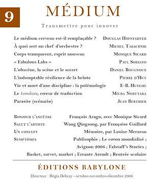 Téléchargez le livre :  Médium n°9, octobre-décembre 2006