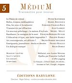 Télécharger le livre :  Médium n°5, octobre-décembre 2005