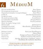 Télécharger le livre :  Médium n°6, janvier-mars 2006